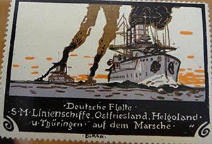 Die Reklamemarken der deutschen Flotte